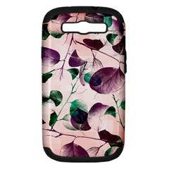 Spiral Eucalyptus Leaves Samsung Galaxy S Iii Hardshell Case (pc+silicone) by DanaeStudio