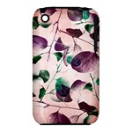 Spiral Eucalyptus Leaves Apple iPhone 3G/3GS Hardshell Case (PC+Silicone)