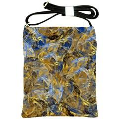 Antique Anciently Gold Blue Vintage Design Shoulder Sling Bags by designworld65