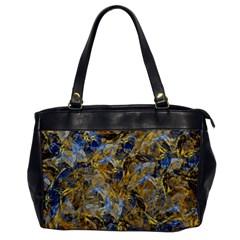 Antique Anciently Gold Blue Vintage Design Office Handbags by designworld65