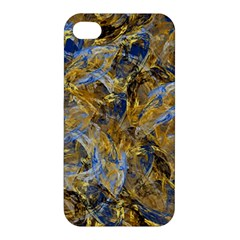 Antique Anciently Gold Blue Vintage Design Apple Iphone 4/4s Premium Hardshell Case by designworld65