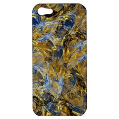 Antique Anciently Gold Blue Vintage Design Apple Iphone 5 Hardshell Case by designworld65