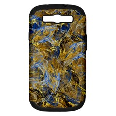 Antique Anciently Gold Blue Vintage Design Samsung Galaxy S Iii Hardshell Case (pc+silicone) by designworld65
