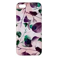 Spiral Eucalyptus Leaves Iphone 5s/ Se Premium Hardshell Case by DanaeStudio