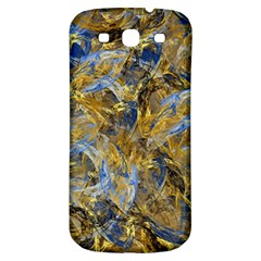 Antique Anciently Gold Blue Vintage Design Samsung Galaxy S3 S Iii Classic Hardshell Back Case by designworld65