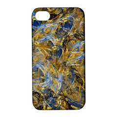 Antique Anciently Gold Blue Vintage Design Apple Iphone 4/4s Hardshell Case With Stand by designworld65