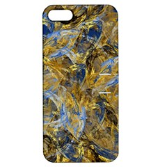 Antique Anciently Gold Blue Vintage Design Apple Iphone 5 Hardshell Case With Stand by designworld65