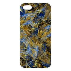 Antique Anciently Gold Blue Vintage Design Apple Iphone 5 Premium Hardshell Case by designworld65