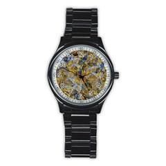 Antique Anciently Gold Blue Vintage Design Stainless Steel Round Watch by designworld65