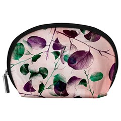 Spiral Eucalyptus Leaves Accessory Pouches (large)  by DanaeStudio