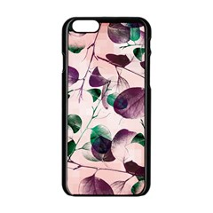 Spiral Eucalyptus Leaves Apple Iphone 6/6s Black Enamel Case by DanaeStudio