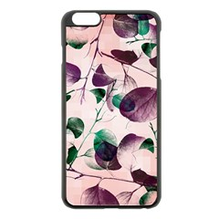 Spiral Eucalyptus Leaves Apple Iphone 6 Plus/6s Plus Black Enamel Case by DanaeStudio
