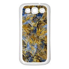 Antique Anciently Gold Blue Vintage Design Samsung Galaxy S3 Back Case (white) by designworld65