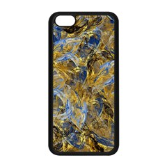 Antique Anciently Gold Blue Vintage Design Apple Iphone 5c Seamless Case (black) by designworld65