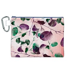 Spiral Eucalyptus Leaves Canvas Cosmetic Bag (xl) by DanaeStudio