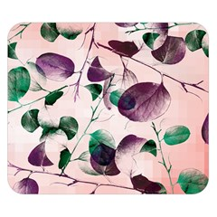 Spiral Eucalyptus Leaves Double Sided Flano Blanket (small)  by DanaeStudio