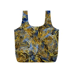 Antique Anciently Gold Blue Vintage Design Full Print Recycle Bags (s)  by designworld65