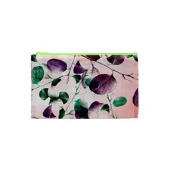 Spiral Eucalyptus Leaves Cosmetic Bag (xs) by DanaeStudio