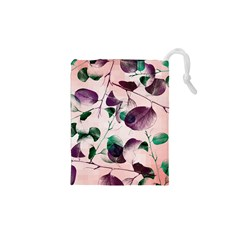Spiral Eucalyptus Leaves Drawstring Pouches (xs)  by DanaeStudio