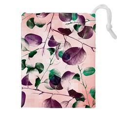 Spiral Eucalyptus Leaves Drawstring Pouches (xxl) by DanaeStudio