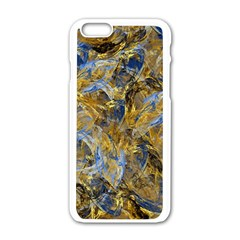 Antique Anciently Gold Blue Vintage Design Apple Iphone 6/6s White Enamel Case by designworld65