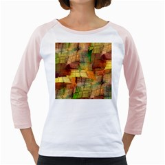 Indian Summer Funny Check Girly Raglans by designworld65
