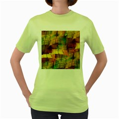 Indian Summer Funny Check Women s Green T Shirt by designworld65