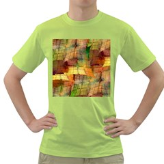 Indian Summer Funny Check Green T Shirt by designworld65