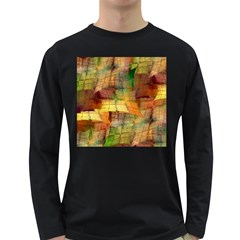 Indian Summer Funny Check Long Sleeve Dark T Shirts by designworld65