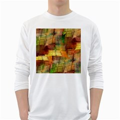 Indian Summer Funny Check White Long Sleeve T Shirts by designworld65