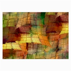 Indian Summer Funny Check Large Glasses Cloth (2 Side) by designworld65