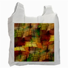 Indian Summer Funny Check Recycle Bag (two Side)  by designworld65