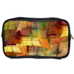 Indian Summer Funny Check Toiletries Bags 2 Side by designworld65
