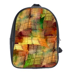 Indian Summer Funny Check School Bags (xl)  by designworld65