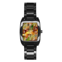 Indian Summer Funny Check Stainless Steel Barrel Watch by designworld65