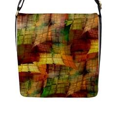 Indian Summer Funny Check Flap Messenger Bag (l)  by designworld65