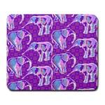 Cute Violet Elephants Pattern Large Mousepads