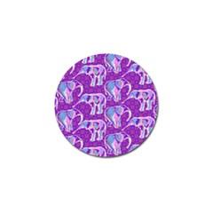 Cute Violet Elephants Pattern Golf Ball Marker by DanaeStudio