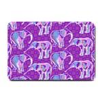 Cute Violet Elephants Pattern Small Doormat