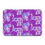 Cute Violet Elephants Pattern Plate Mats