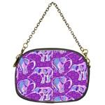 Cute Violet Elephants Pattern Chain Purses (One Side)