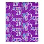 Cute Violet Elephants Pattern Shower Curtain 60  x 72  (Medium)