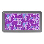 Cute Violet Elephants Pattern Memory Card Reader (Mini)