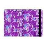 Cute Violet Elephants Pattern Apple iPad Mini Flip Case