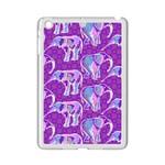 Cute Violet Elephants Pattern iPad Mini 2 Enamel Coated Cases
