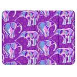 Cute Violet Elephants Pattern Samsung Galaxy Tab 7  P1000 Flip Case