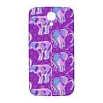 Cute Violet Elephants Pattern Samsung Galaxy S4 I9500/I9505  Hardshell Back Case