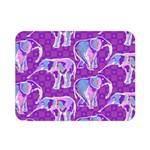 Cute Violet Elephants Pattern Double Sided Flano Blanket (Mini)