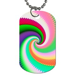 Colorful Spiral Dragon Scales   Dog Tag (one Side) by designworld65