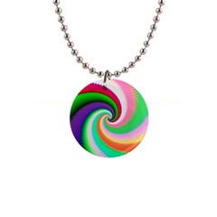 Colorful Spiral Dragon Scales   Button Necklaces by designworld65
